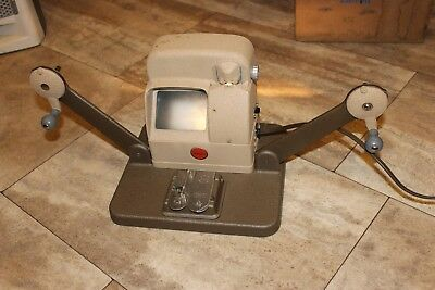 Vintage Baia 8mm Movie Film Editing Viewer Model V-8 with Built-In Splicer