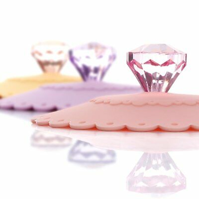 ME.FAM Diamond Flower,Set of 6 Pack,anti-dust Airtight Seal Silicone Cup Mug Hot