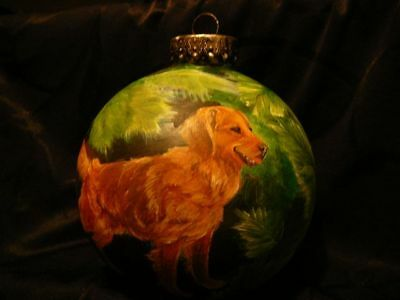 Golden Retriever Dog, Pheasant, Wildlife Painting, SIT,  Ornament, Sporting Gift