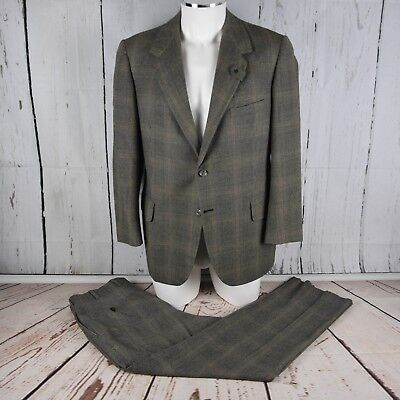 Oxxford Clothes Onwentsia Gray Check Suit 42 R