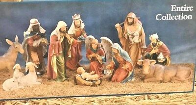STUNNING Polystone  Nativity  LARGE Statue Set  OUTDOOR Christmas Church or Yard
