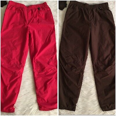 Lot of 2 LANDS END Boys Reversible Pull-on Lounge Wind Pants Size XL? (16-18)?