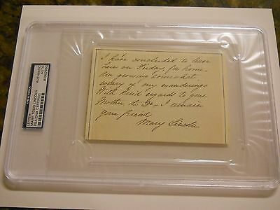 Mary Todd Lincoln Signed Letter Psa/dna Auto First Lady President Abraham