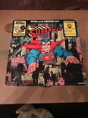 Superman - Book & Record Set - Br514 - 1976 - Comic And Record Set - Very Gd