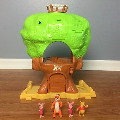 Winnie The Pooh MY FRIENDS TALKING TREE HOUSE Playset Figures HTF Interactive