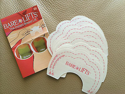 40 pcs Bare Lifts Instant Breast LiftSupport Invisible Bra Shaper Adhesive Tape