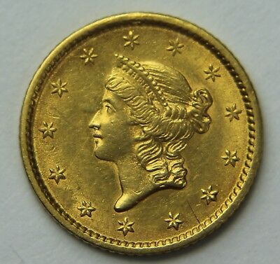 1852-P Liberty Head Gold Dollar $1 22k Old US Coin NR Free Ship W040