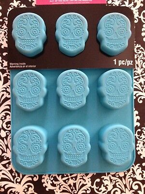 Dia De Los Muertos Day of The Dead Skulls Sugar Skull/s party ice Cooking Mold