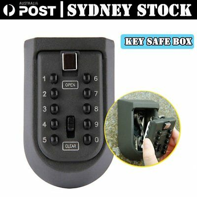Outdoor Wall Mount Spare Key Safe Box Lock Holder Water Weather Proof Aussie MG