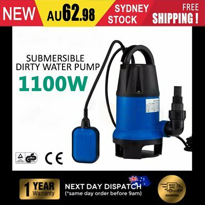 Submersible Dirty Water Sump Pump 1100W - Grey Water Sewage Sullage MG