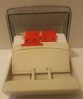Rolodex Petite Covered Card File S-300C With 50 Cards