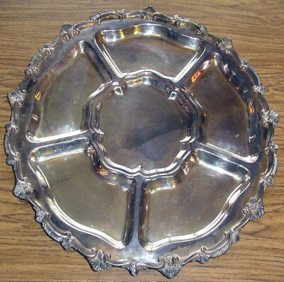 """W & S Blackinton Large 19"""" 1482X Epc Silver Plated Copper Serving Tray Platter"""