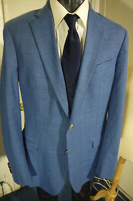 Brooks Brothers Fitzgerald Fit Size 42L Blue 2 Button Sportcoat