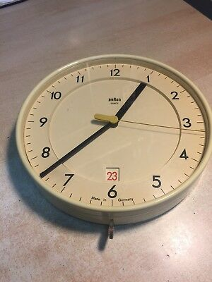 "Vintage Braun 8"" Wall Clock Model 4 623 / ABK 40"