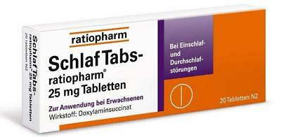 SchlafTabs-ratiopharm 25 mg Tabletten 20St PZN: 7707524