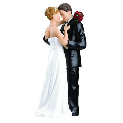 Hot Wedding Cake Topper Bride And Groom Funny Figurine Decorations Vintage Decor