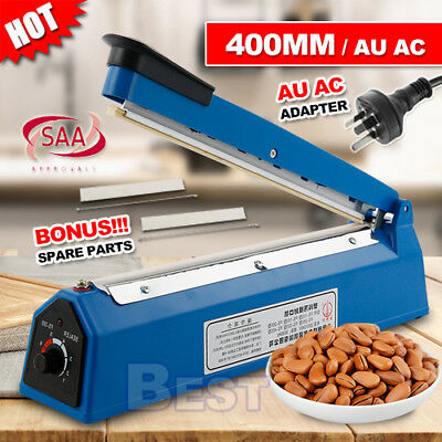 New 400mm Impulse Heat Sealer Hand SAA Machine Poly Bag Sealing Electric Plastic