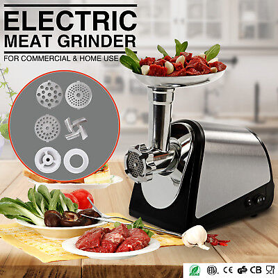Commercial Electric Meat Grinder Home Stainless Steel Kitchen Butcher Equipment