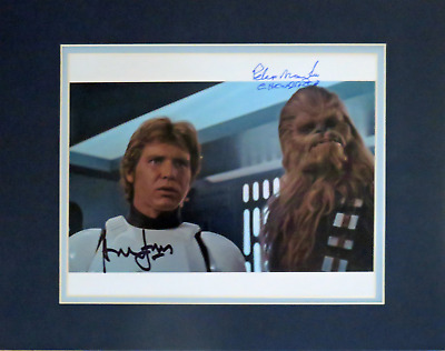 Harrison Ford & Peter Mayhew Autographed Photo Star Wars: A New Hope