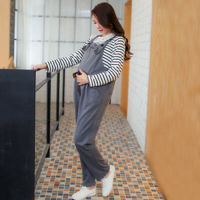Newly Maternity Pants Pregnant Lady's Suspender Overalls Cute Bowknot Trousers