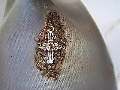 Cross pendant to~HEAR THE DEAD!~haunted-Cemetery-E.V.P.-OUIJA-Lift the VEIL