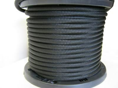 """1/4"""" 250 ft Bungee Shock Cord Polyester Black Heavy Duty Shock Rope"""