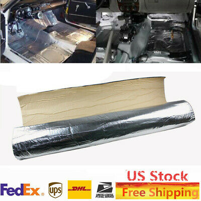 "118"" x 39"" 32 sqft Sound Deadener Car Heat Shield Insulation Mat Material Silver"