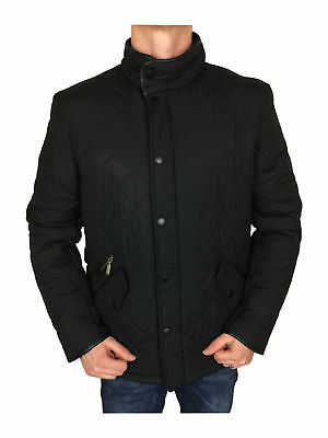 SALE // Barbour International Mens Powell Quilted Jacket in Black