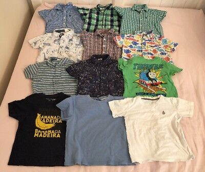 3-4 Years Boys Clothes Bundle Shirts Tops T-Shirts Short Sleeve Summer (Ref:202)
