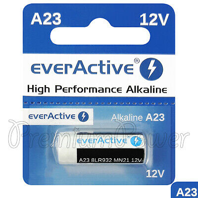 1 x everActive A23 Alkaline battery 12V MN21 8LR932 Remote control GREAT VALUE
