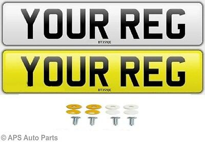 Pair Standard Number Plates 100% MOT Compliant - FREE POST Car / Van