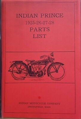 Indian Prince - 1925-1928 - Parts List