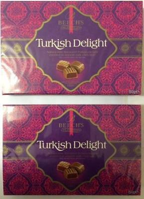 Beech's Fine Chocolates Milk Chocolate Turkish Delight 2 x 150g Boxes