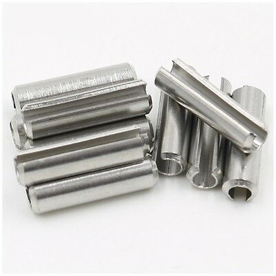 304 Stainless Steel M4 x 8mm Spring Tension Pins Split Sellock Roll Pins
