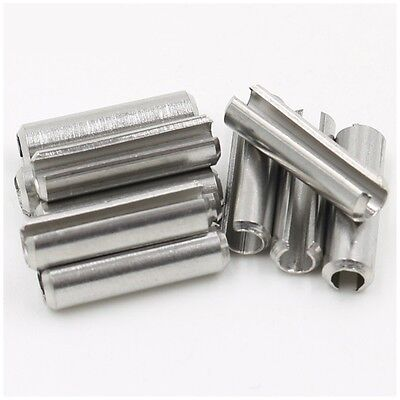 A2 Stainless Steel M5 x 12mm Spring Tension Pins Split Dowel Sellock Roll Pins
