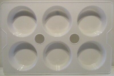 2K Paint Palette - 1 x White plastic 6 compartment mixing pallet -1st Class Post