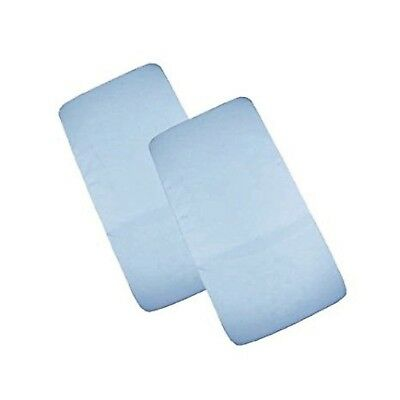 Cuddles Collection Two Crib Jersey Fitted Blue Sheets 100% Cotton - New In Pack