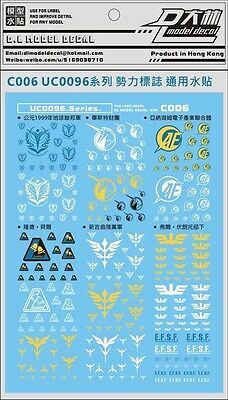 D.L UC0096 Caution Waterslide Decal for  gundam model Kit