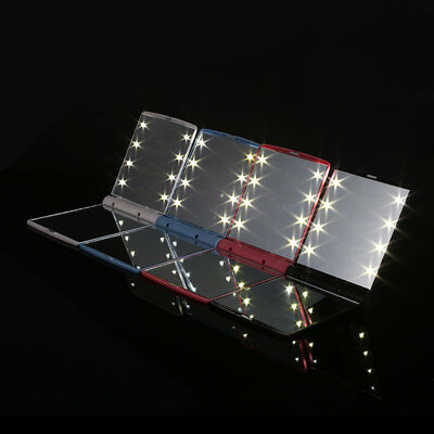 Cosmetic Folding Portable Make Up Mirror Small Pocket Travel with 8 LED Light
