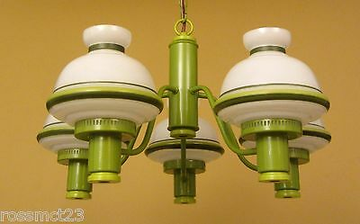 Vintage Lighting never used 1970s green chandelier   Very mod   Very cool