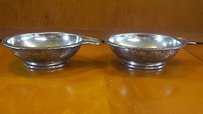 Famous Barr Vintage Soldered Silver Ice Cream Dishes, St. Louis Department Store