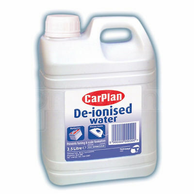 Carplan De-Ionised Water Battery & Iron Top Up Distilled 2.5 L De-Ionised Water!