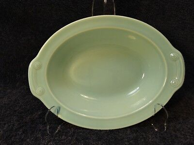 """Taylor Smith Taylor Luray Pastels Green Oval Serving Bowl 10 1/8"""""""