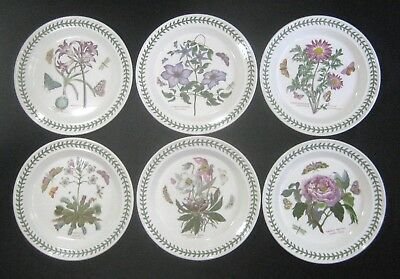 PORTMIERION England BOTANIC GARDEN  6- Different DINNER PLATES Mexican Lily+++++