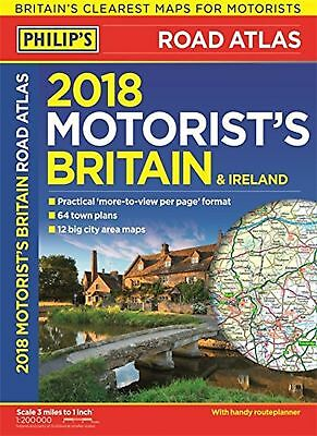 Philip's 2018 Motorist's Road Atlas Britain and Ireland A3: (Large-format pap...