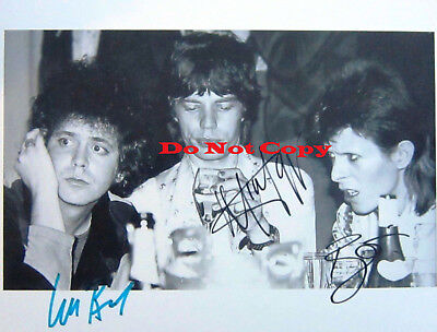 David-Bowie-Mick-Jagger-Lou-Reed Autographed Signed 8x10 photo reprint