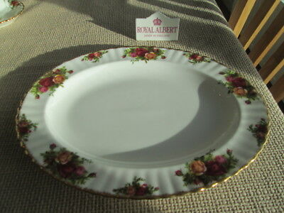 "Royal Albert Old Country Roses Large Platter 13.5"" By 10.75"""