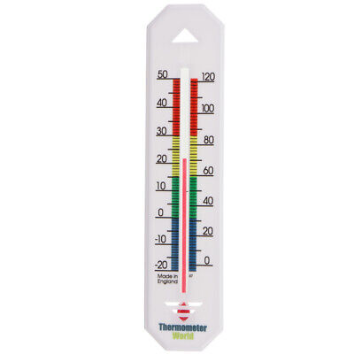 Wall Thermometer - Indoor Outdoor Garden Greenhouse Home Office Room - In-145