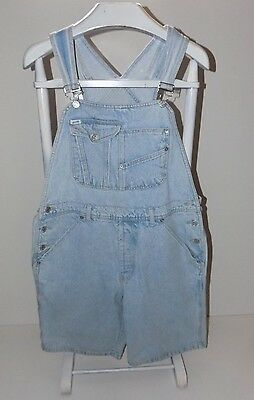 Vintage Guess Georges Marciano Size L Overall Shorts Acid Wash Bib Overalls