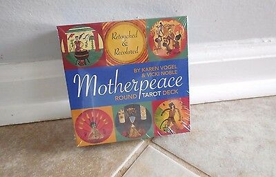 MOTHERPEACE ROUND DECK TAROT CARDS BOOK BOXED NEW Navajo VOGEL NATIVE CAT RESQ